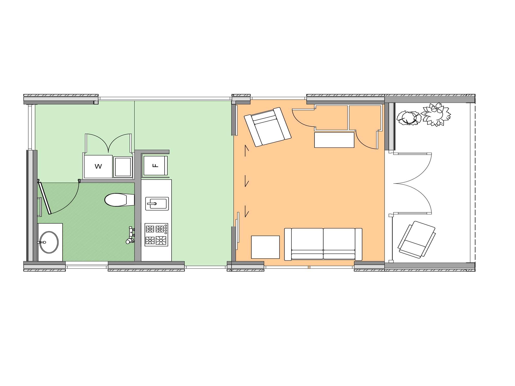 Plan of Te Whare-iti TWI 02