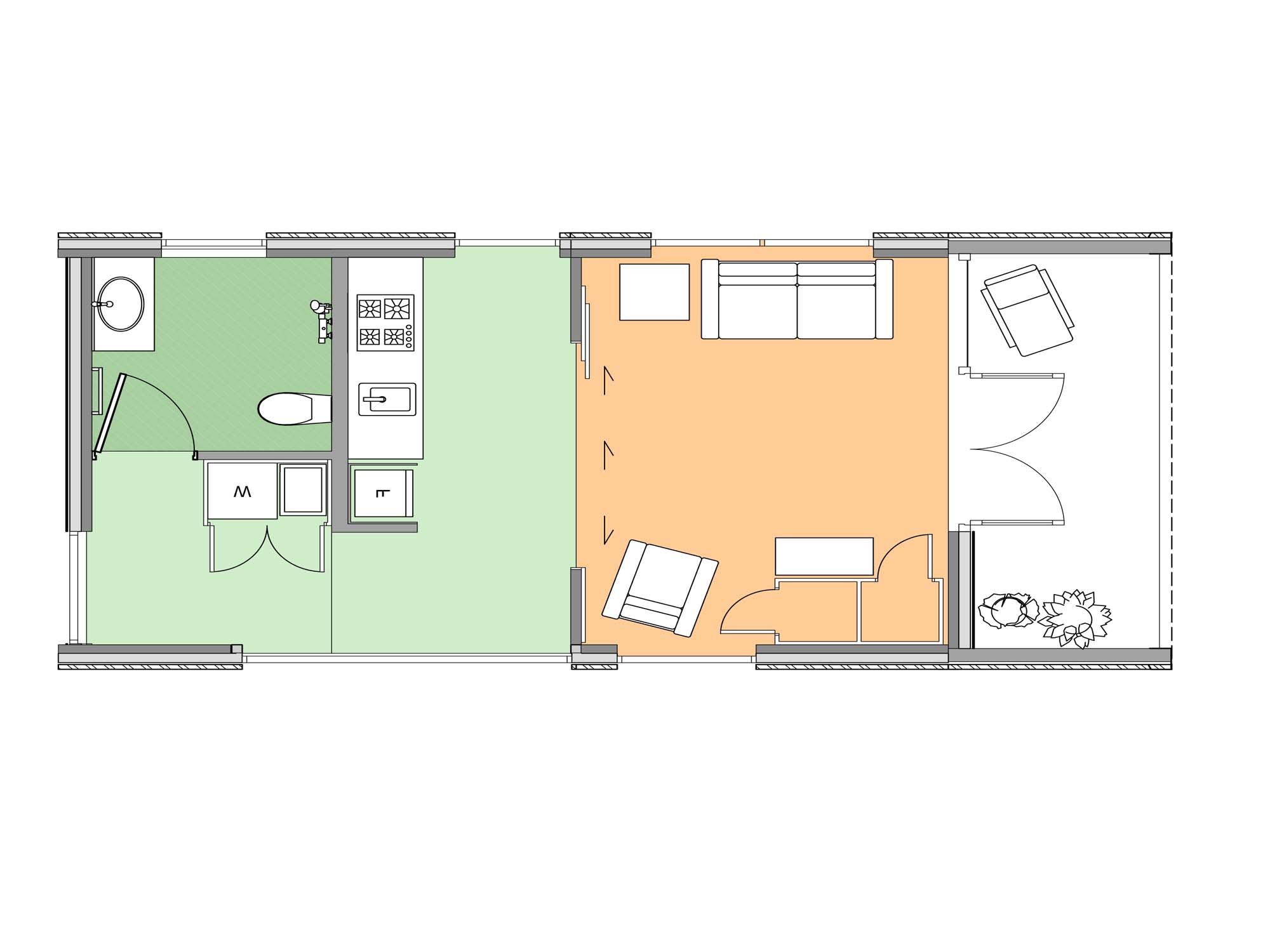 Plan of Te Whare-iti TWI 02M