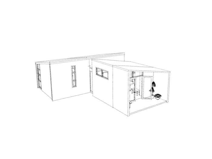 3-d view of one-bedroom Te Whare-iti TWI 11