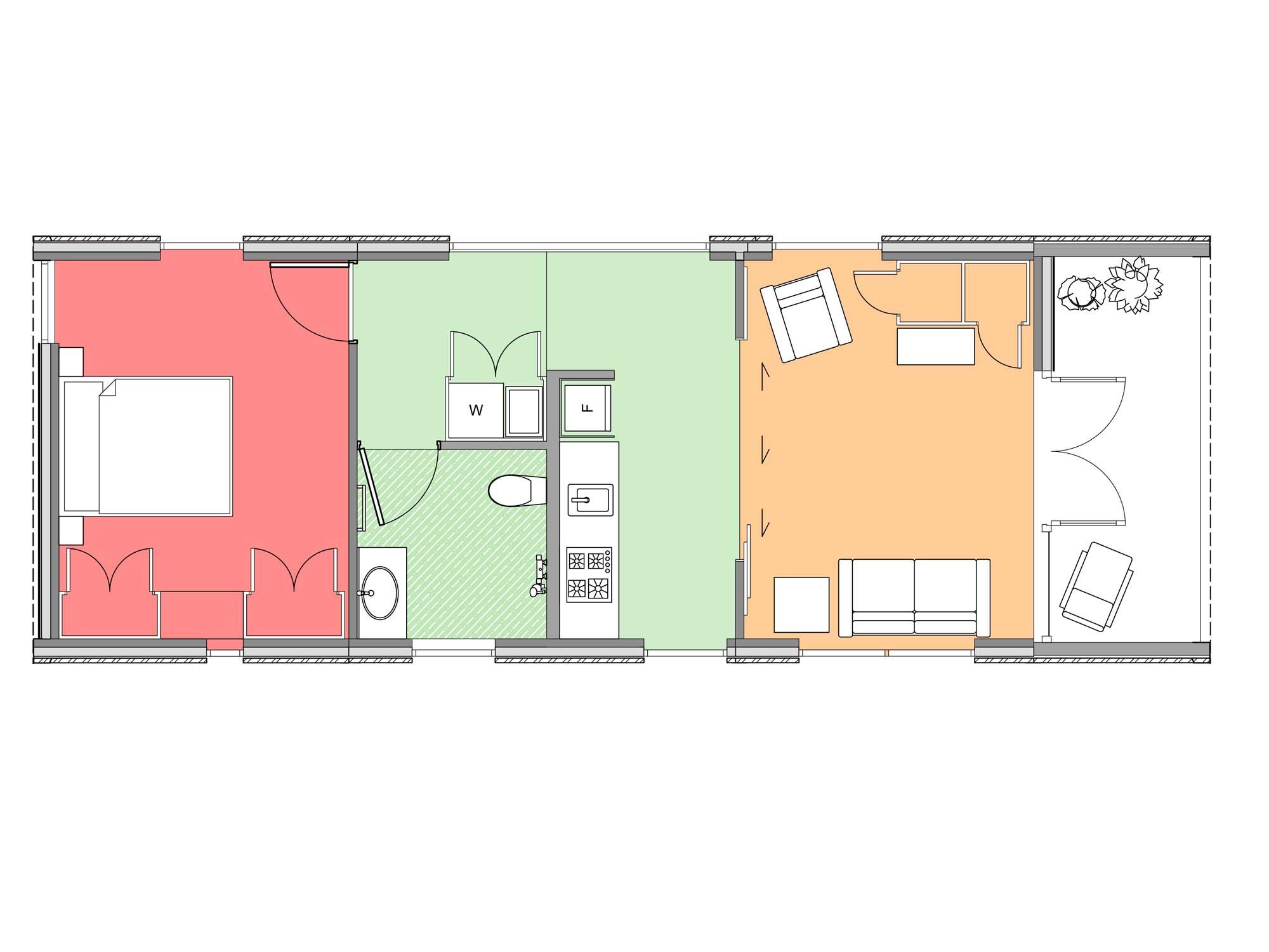 Plan of Te Whare-iti TWI 12