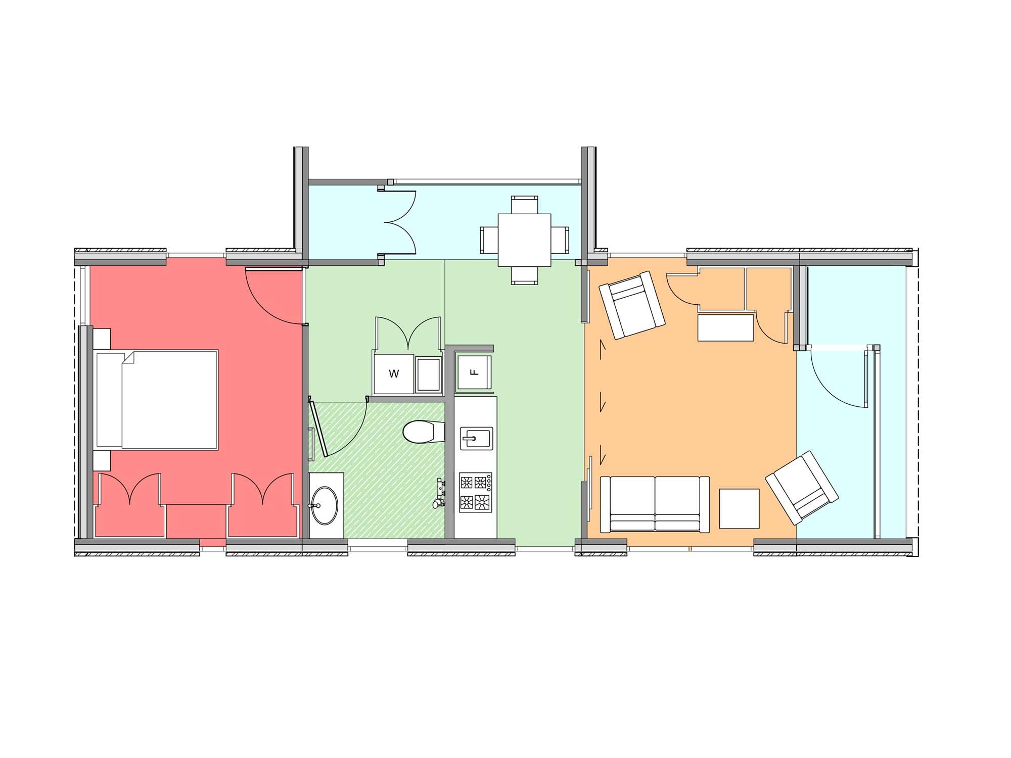 Plan of Te Whare-iti TWI 13