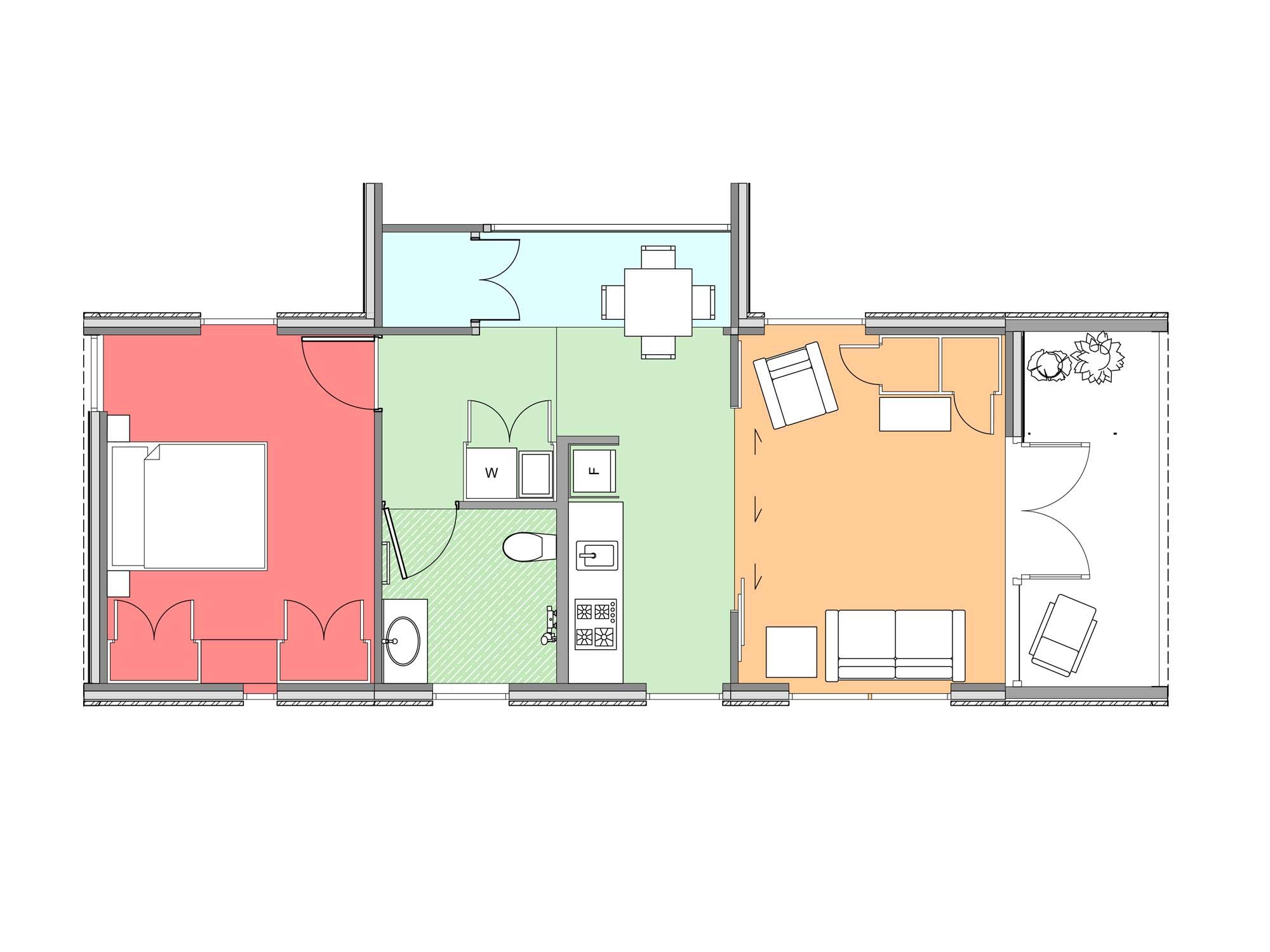Plan of Te Whare-iti TWI 14