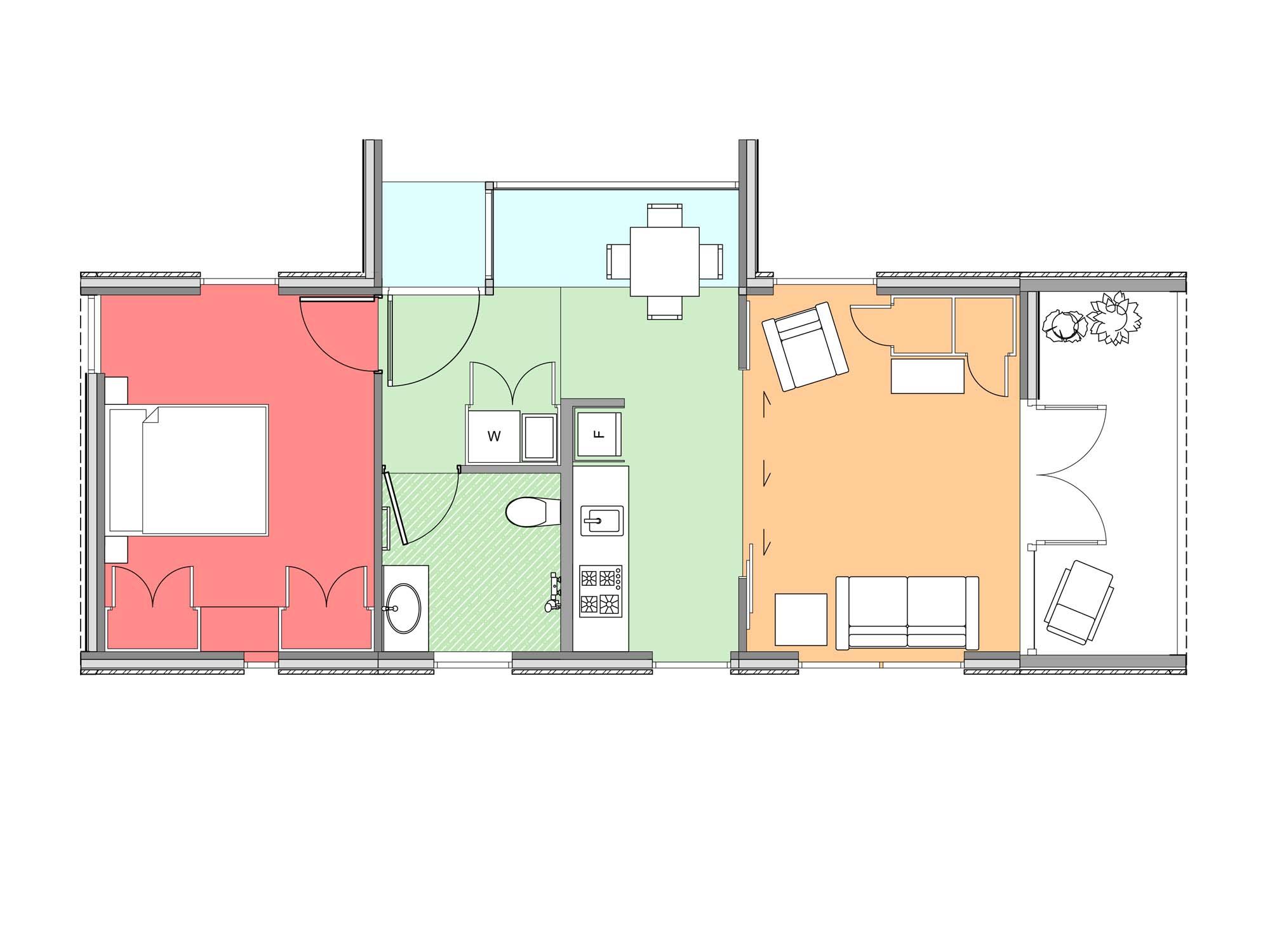 Plan of Te Whare-iti TWI 15