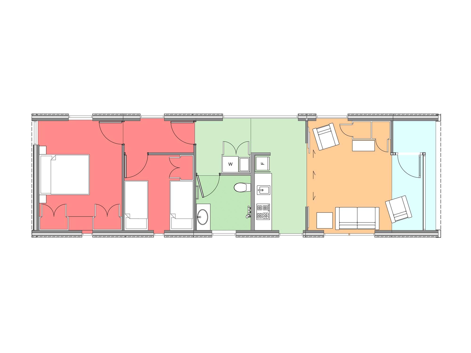 Plan of Te Whare-iti TWI 22