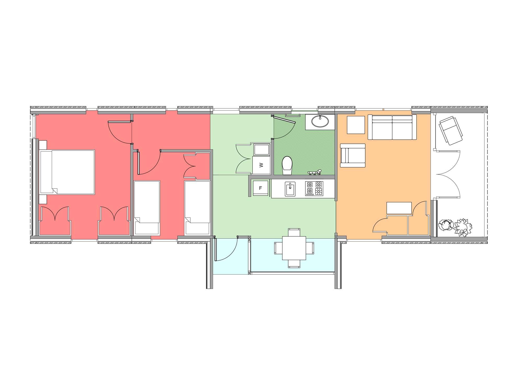 Plan of Te Whare-iti TWI 23