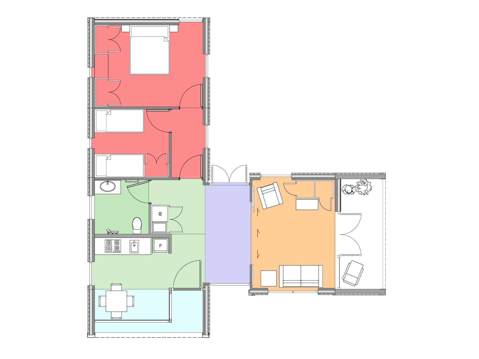 Plan of Te Whare-iti TWI 24
