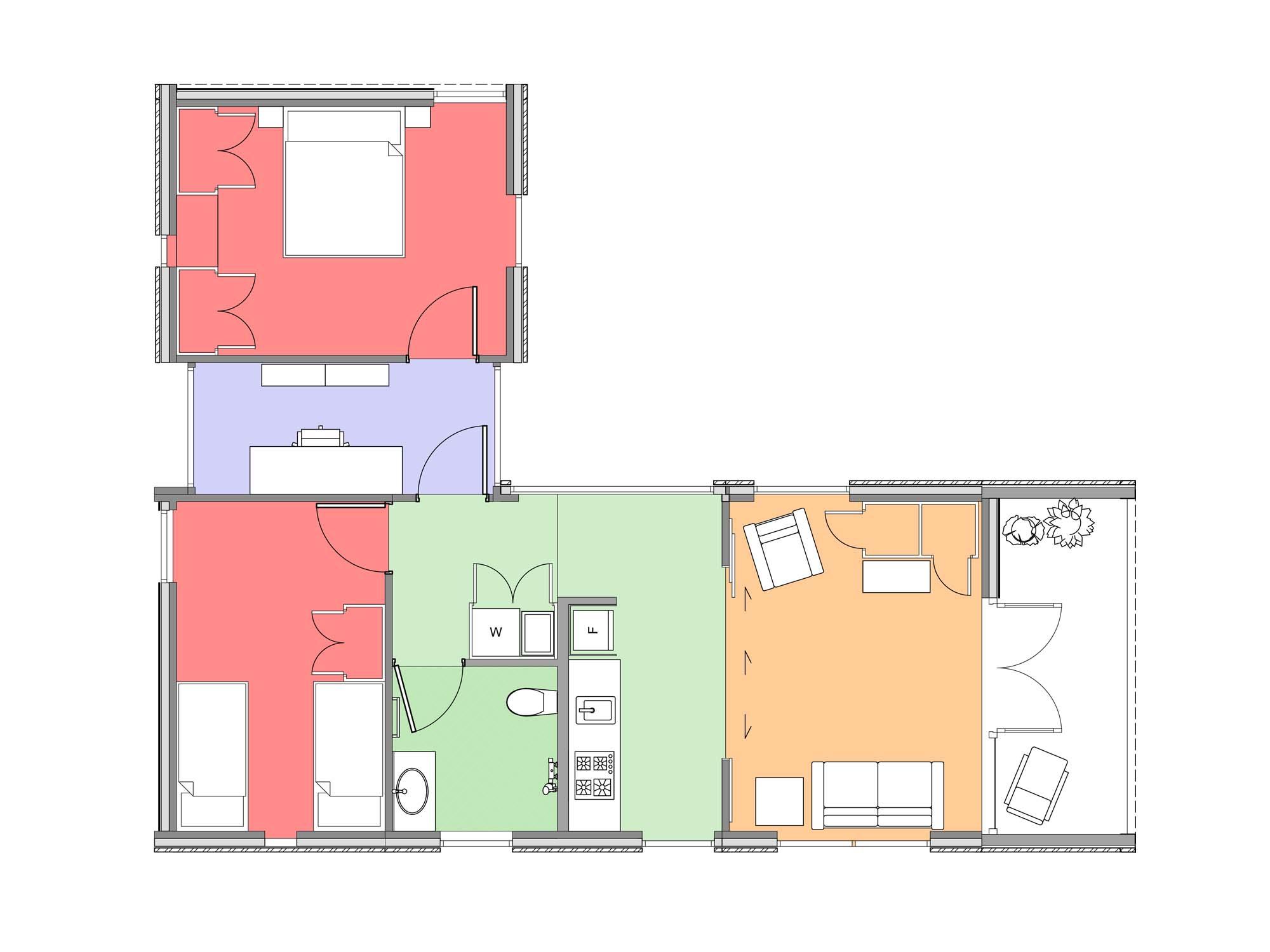 Plan of Te Whare-iti TWI 25