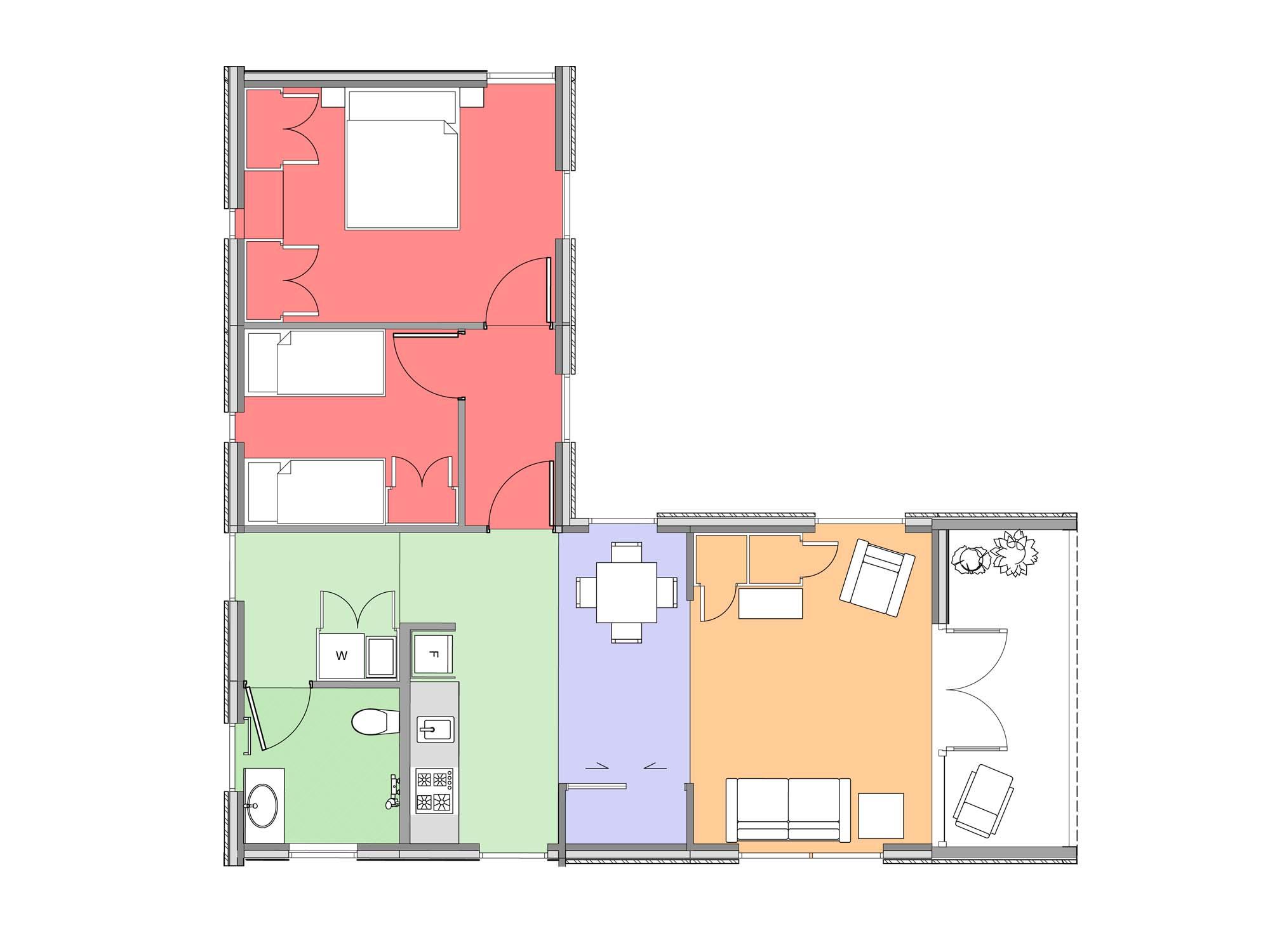 Plan of Te Whare-iti TWI 26