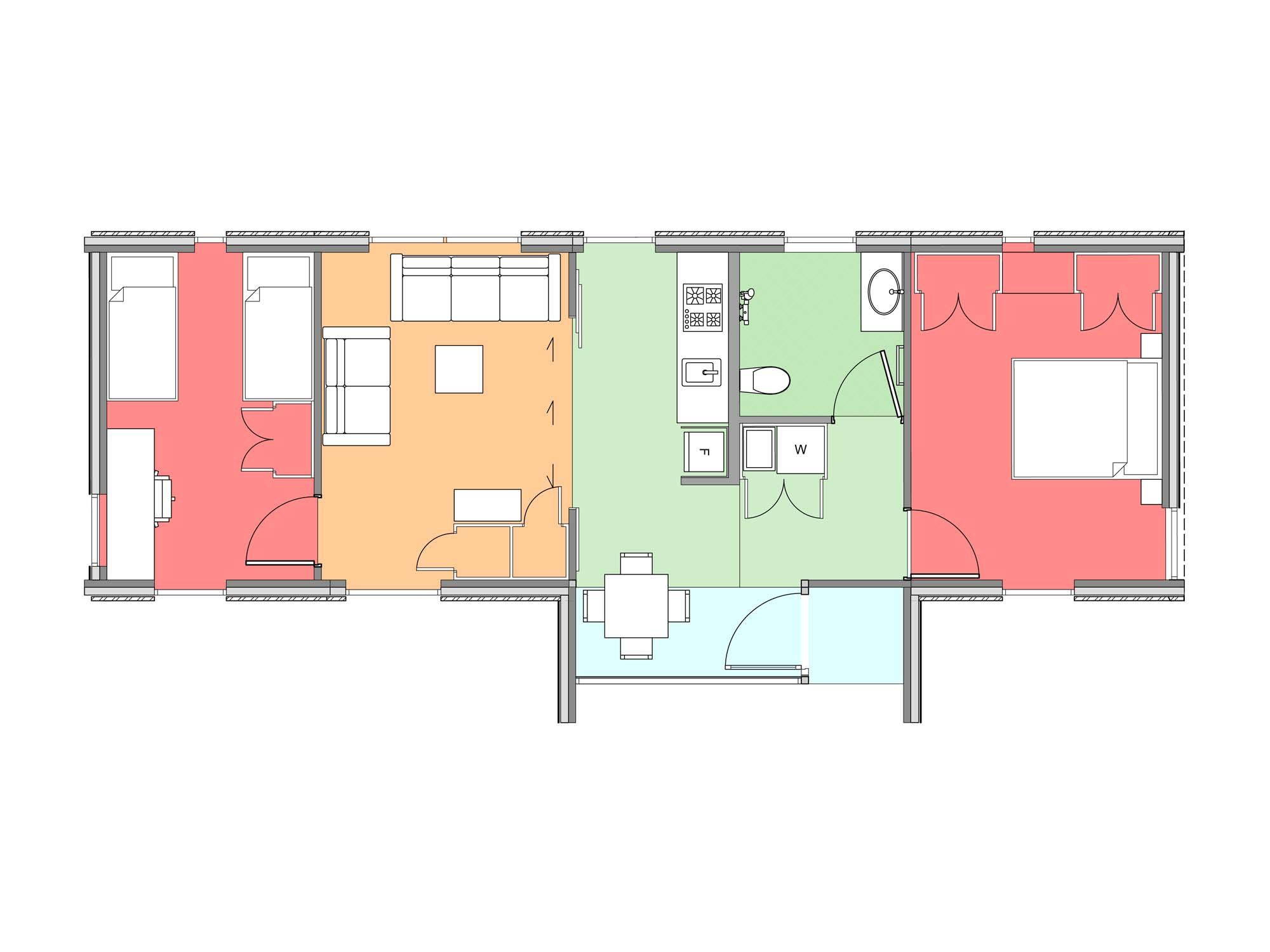 Plan of Te Whare-iti TWI 27