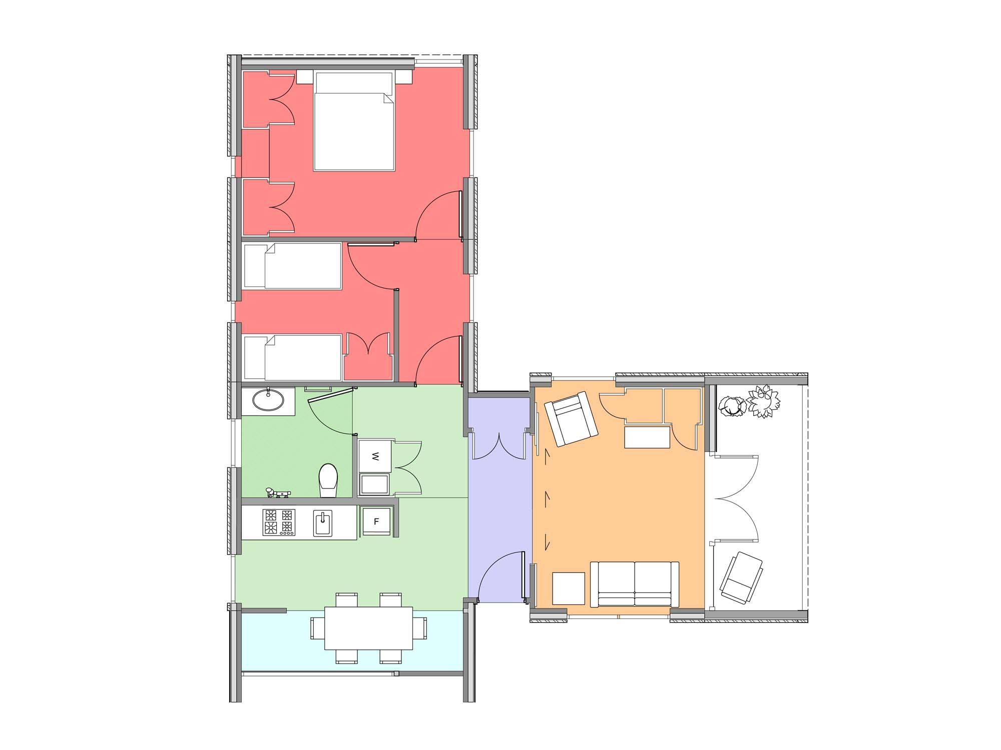 Plan of Te Whare-iti TWI 28