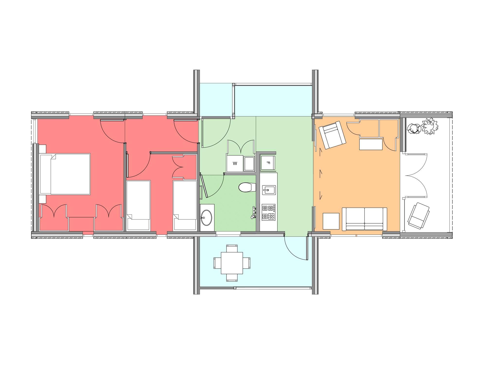 Plan of Te Whare-iti TWI 29