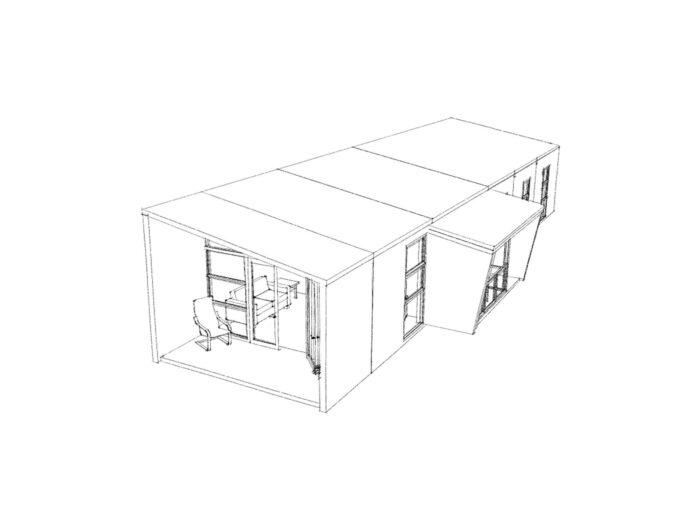 3D view of three-bedroom Te Whare-iti TWI 31