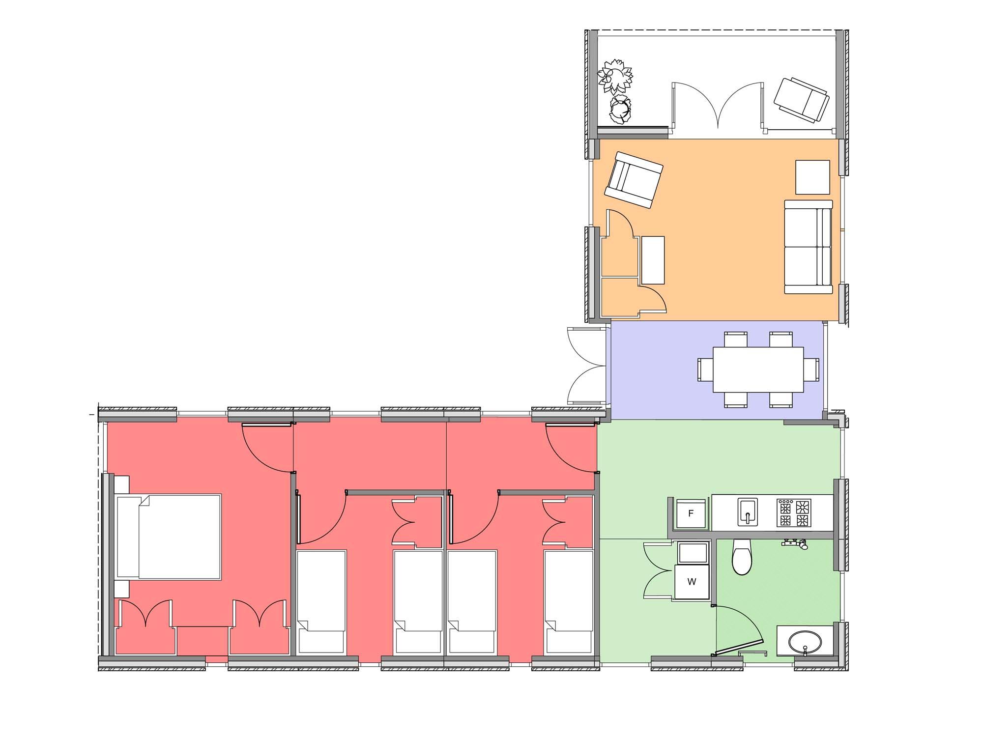 Plan of Te Whare-iti TWI 32
