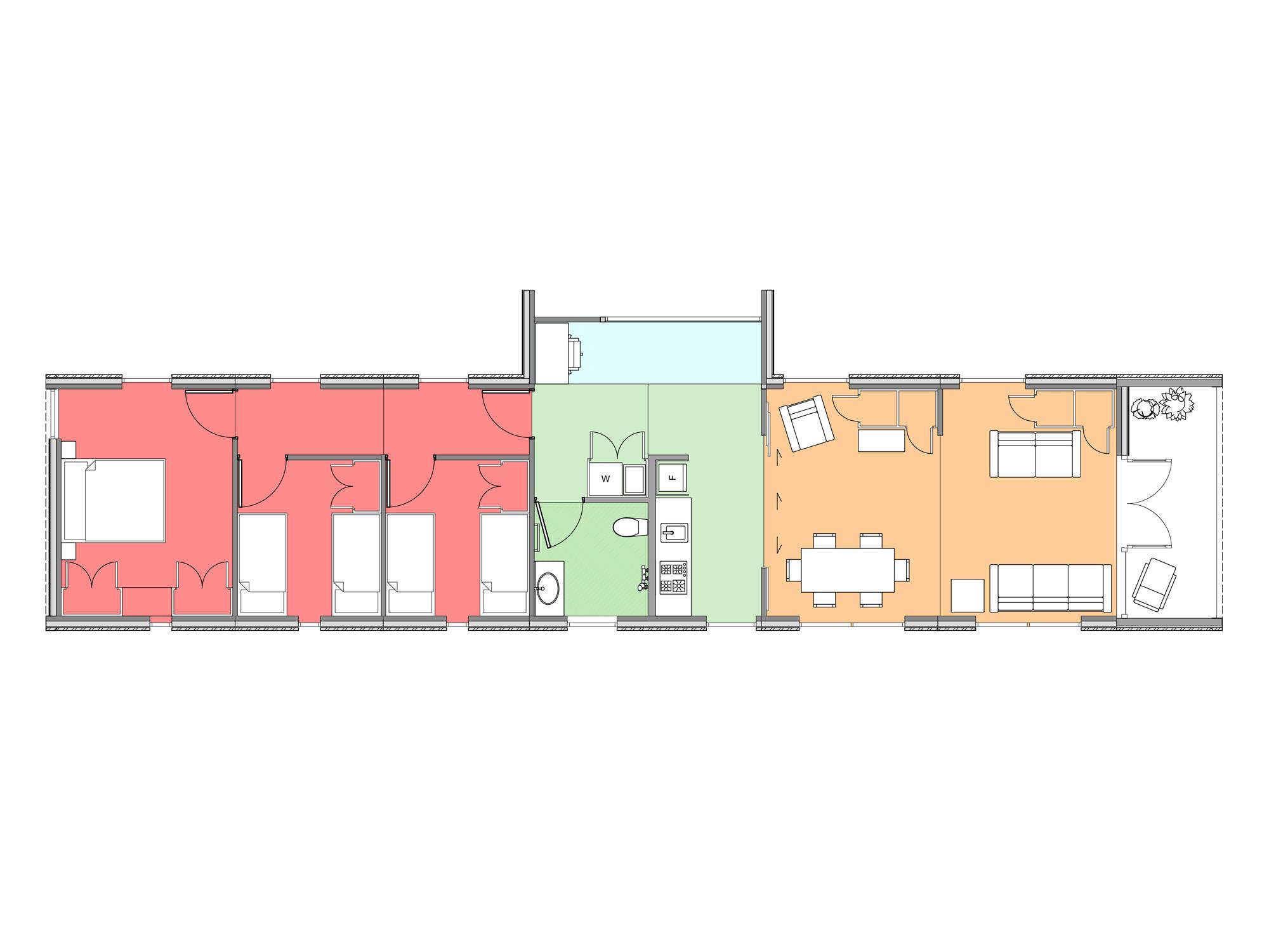 Plan of Te Whare-iti TWI 33