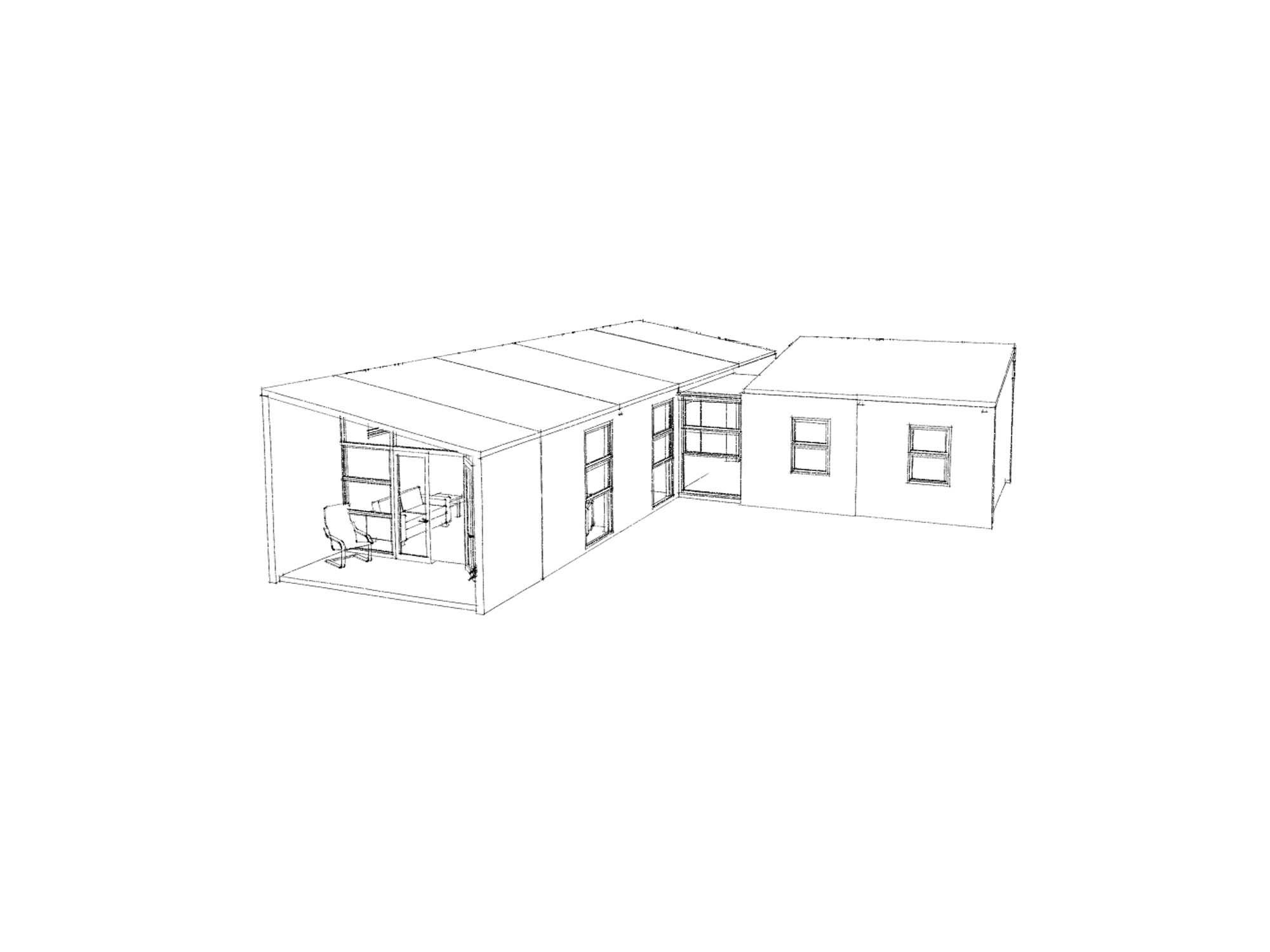 3D view Plan of Te Whare-iti TWI 34