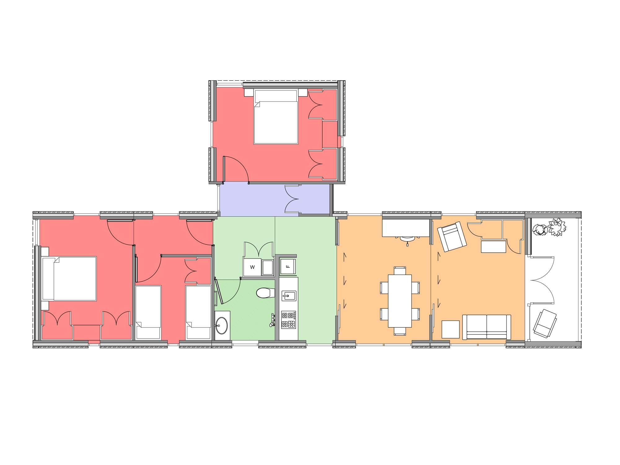 Plan of Te Whare-iti TWI 36