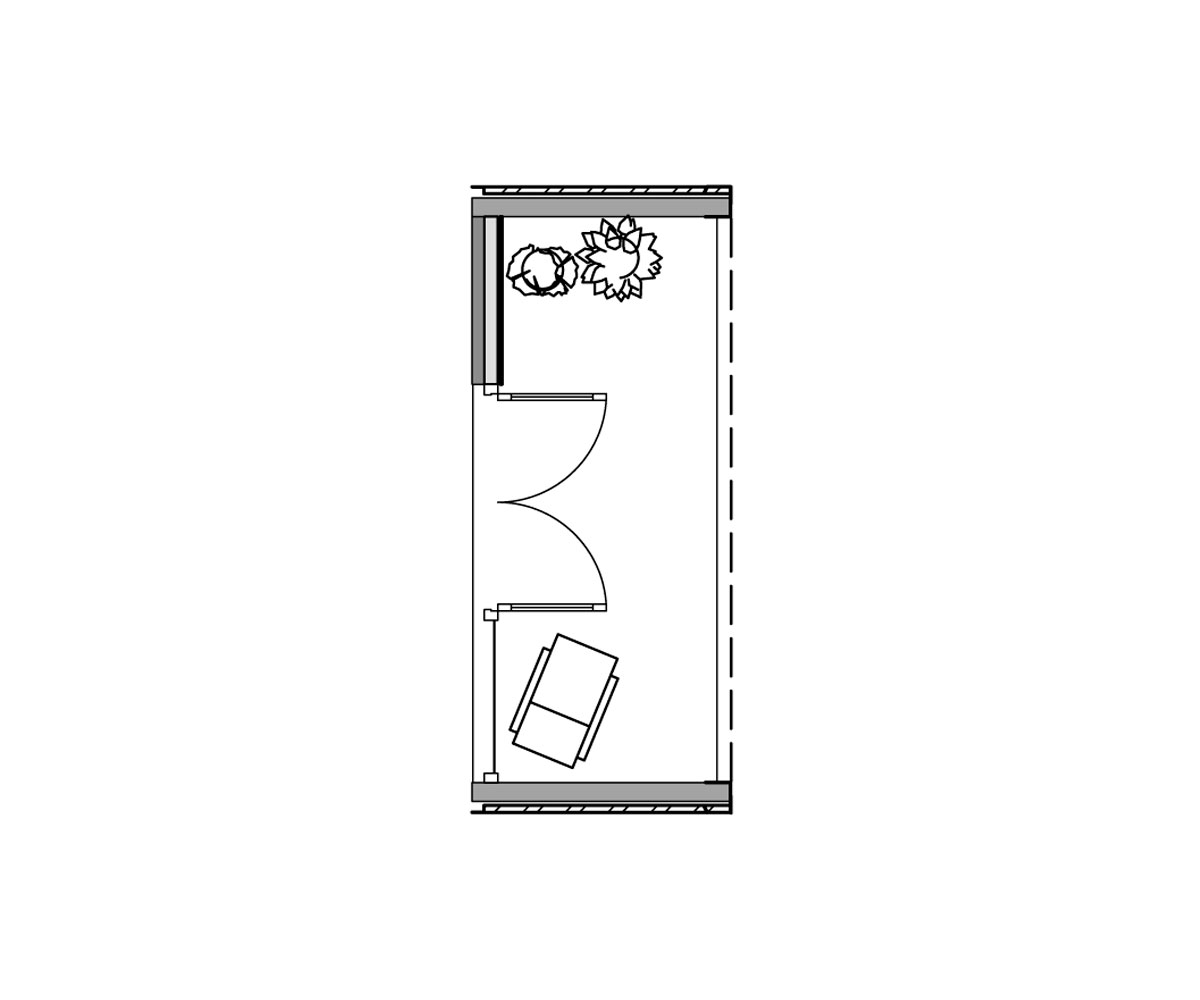 Plan of porch module.