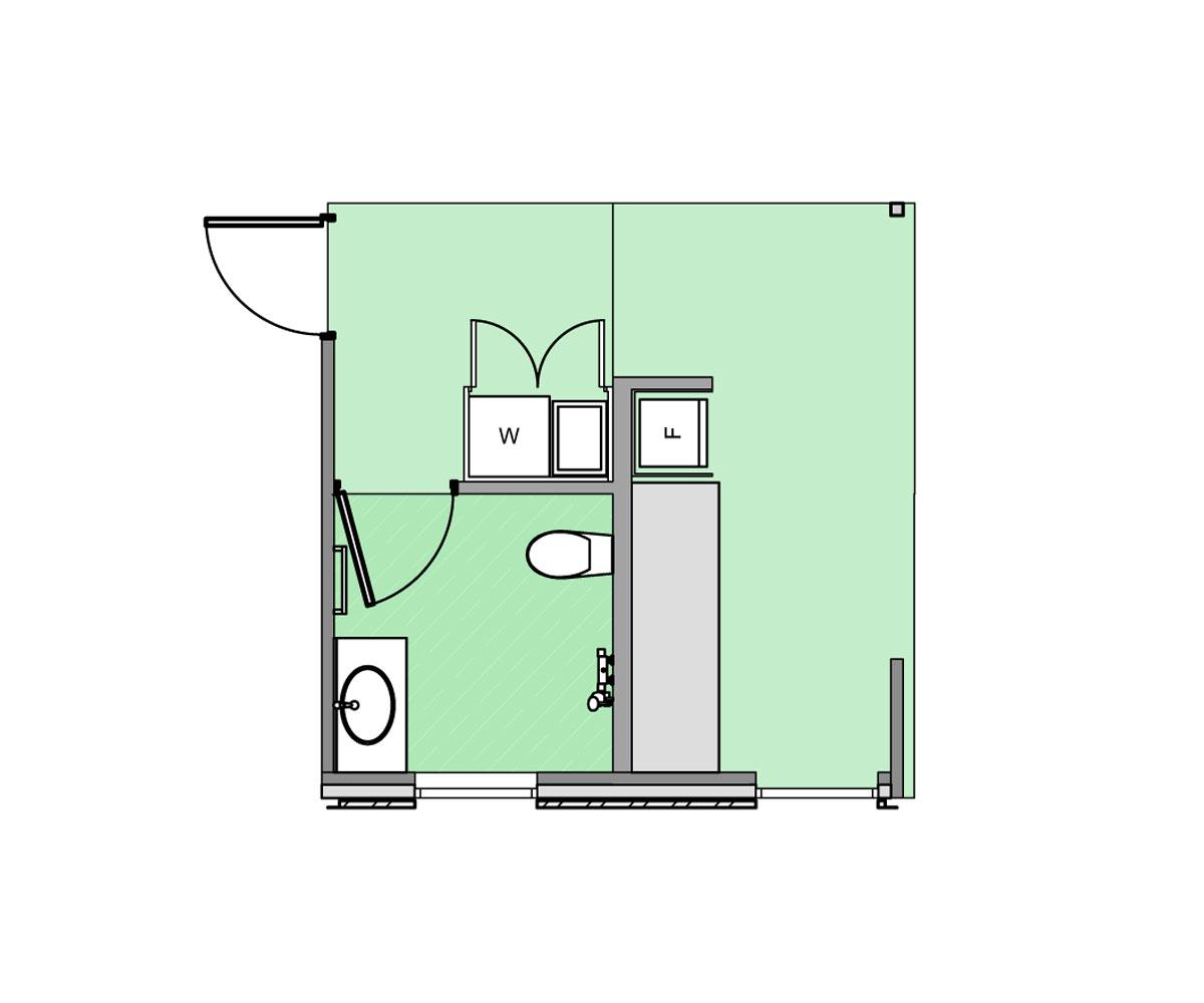 Plan of service module.