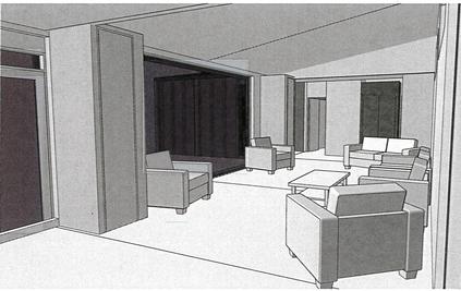 3D view of living space in papakainga / multi-generational Te Whare-iti